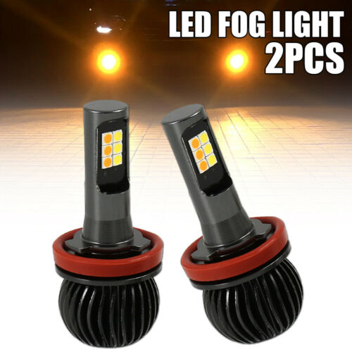 2x H8 H11 160W LED Fog Light Bulbs Kit White//Yellow 2 Color 1300LM WILLKEY