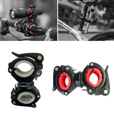 Rotation Bike Bicycle Handlebar Mount Bracket Flashlight Torch Holder Clip Clamp
