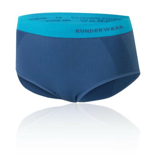 Runderwear Womens Briefs Blue Sports Running Breathable Lightweight