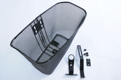 PREMIUM QUALITY WIRE MESH BICYCLE FRONT BASKET SUBSTANTIAL DESIGNED FIXINGS