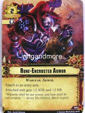 Warhammer 40000 Conquest LCG - Rune-Encrusted Armor  #096 - Base Set