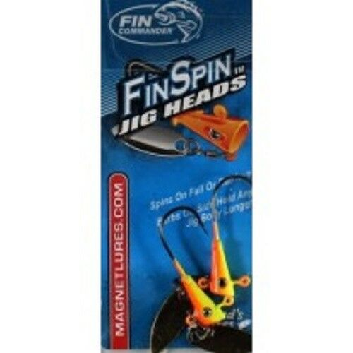 NEW    Fin Commander Fin Spin 1//16oz 2pk Chart//ORANGE