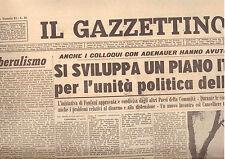 G9  IL GAZZETTINO N. 84 DEL 8 APRILE 1962 - FANFANI E IL CANCELLIERE ADENAUER