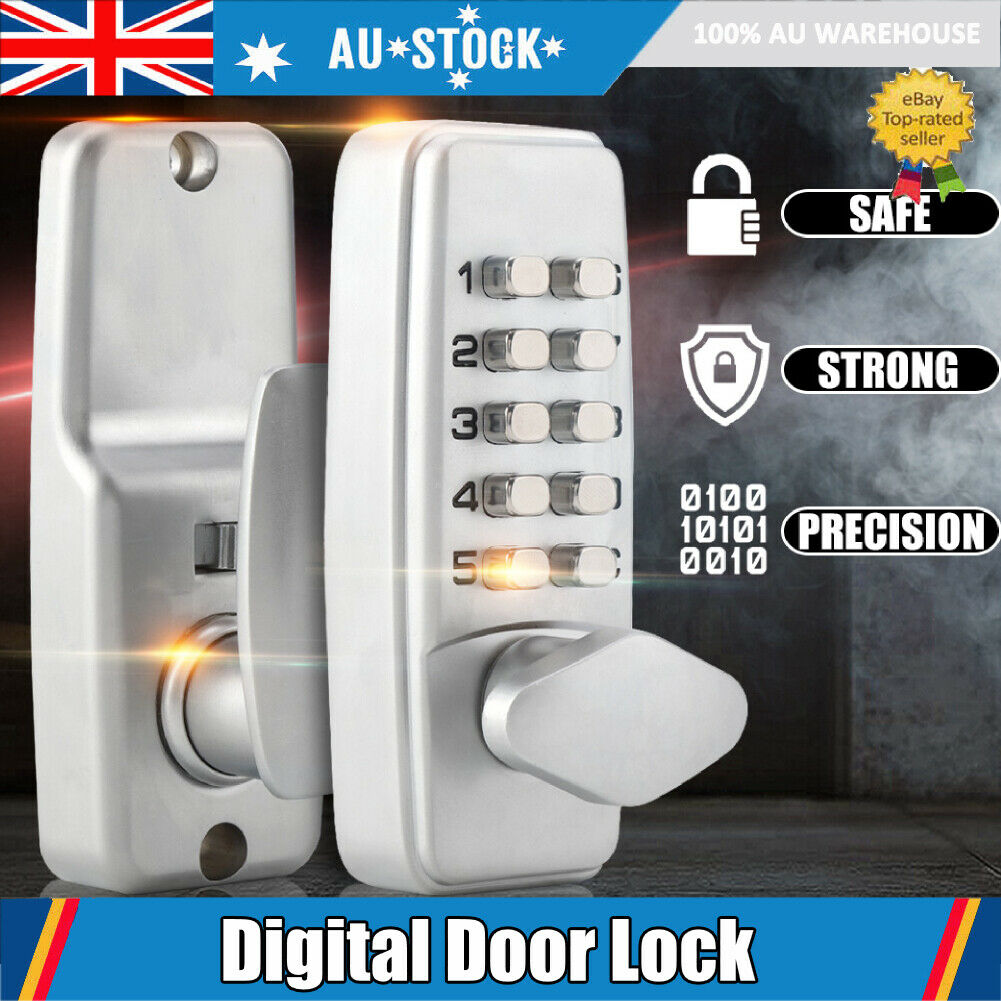 Mechanical Door Lock Keyless Entry Exterior Combination Digital Code for Safety