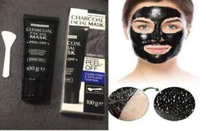 2c0943787342 Masque visage peeling noir au charbon anti-acné boutons points noirs ...