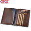 Men-Genuine-Leather-Passport-Holder-Wallet-Travel-ID-Cards-Case-Cover-Organizer miniature 1