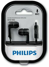 Philips SHE1405BK/94 In-Ear Headphone Headset With Mic - Black