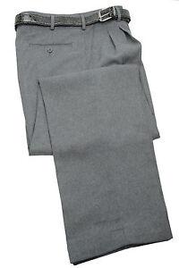 mens trousers grey dress pleated slacks w