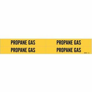 Brady 7227-3C Pipe Marker,Propane Gas,Y,3//4 In Or Less