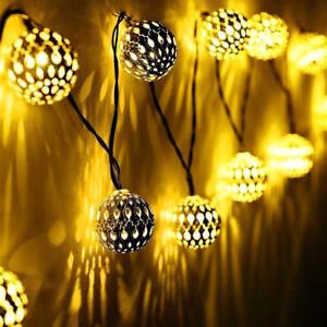 Hochwertige Weihnachtsbeleuchtung.Lichterkette 20 Led Kugeln Fensterdeko Zimmer Dekoration