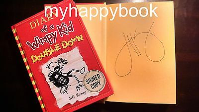 Signed Diary Of A Wimpy Kid Double Down Bk 11 By Jeff Kinney New Autographed 9781419723445 Ebay