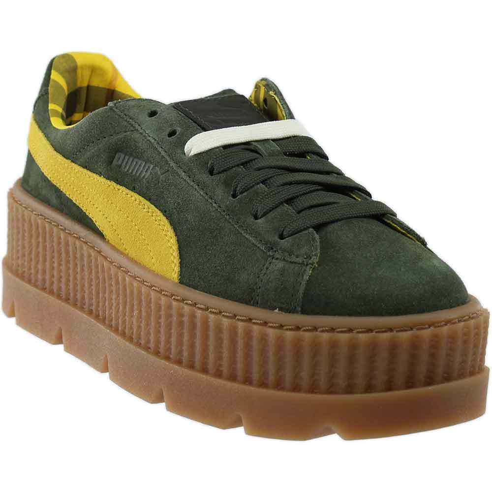 Puma x Fenty by Rihanna Suede Cleated Creeper - Green - Damenschuhe