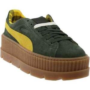Puma Fenty by Rihanna Cleated Suede Cleated Rihanna Creeper Sneakers Grün Damenschuhe e06cee