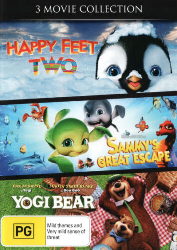1 of 1 - 3 Movie Collection: Happy Feet Two / Sammy's Great Escape   - DVD - NEW Region 4
