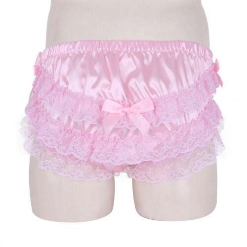 Homme Soyeux Sissy Pouch Panties bulle bloomer short Satin Sous-vêtements Slips
