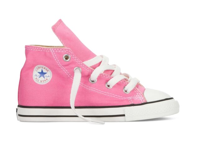 de058422fae9 Converse Ct Hi Pink Unisex Kids Canvas Trainers UK 3 Infant - EU 19 ...