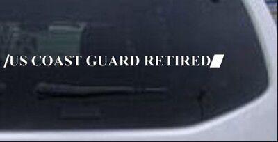 US COAST GUARD RETIRED Car or Truck Window Laptop Decal Sticker White 12X0.8