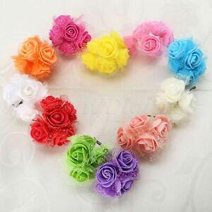 Details about HOT Artificial PE Rose Flowers Bouquet Bridal Home Wedding  Vase Decoration A99D