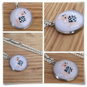 Chihuahua Chi Dog Miniature Charm pendant necklace W2
