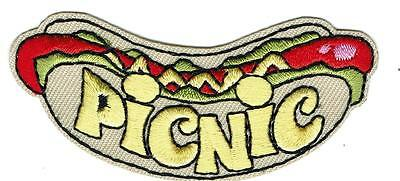 Girl Boy Cub PICNIC BASKET Lunch outdoor Hotdog Patches Crest Badge SCOUT GUIDE