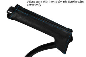 BLUE-STITCHING-FITS-VOLVO-C30-2006-2013-LEATHER-HANDBRAKE-HANDLE-COVER-ONLY