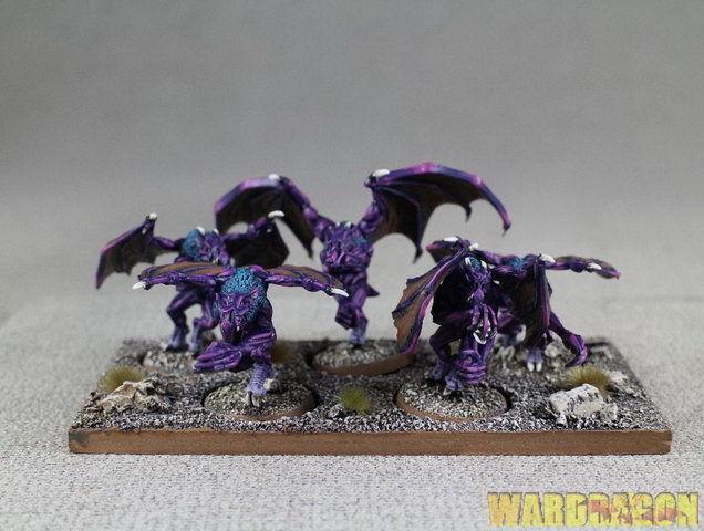 25mm Warhammer Wds Pintado demonios del caos Furias u2