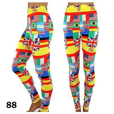 New Fashion Womens Colorful Pattern Print Leggings Ti Pants 13 Styles