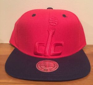 size 40 a047d 7a51d Image is loading Washington-Wizards-DC-Mitchell-amp-Ness-NBA-Snapback-