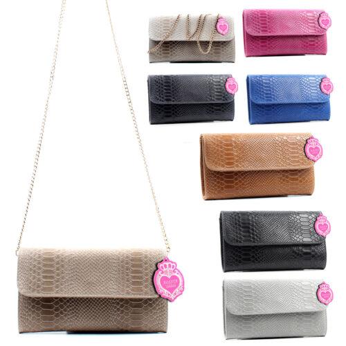 Ladies Italian Genuine Leather Crossbody Bags With Metal Strap Clutch Bag Wrist