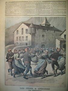 ANDORRE-FETES-LA-FARANDOLE-LA-REINE-D-039-ANGLETERRE-A-GRASSE-LE-PETIT-JOURNAL-1891