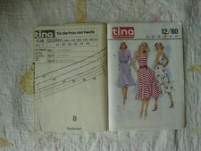 TINA Schnittmuster 12/80 Kleider mit Jacke Gr.34-44 Mehrgrößenschnitt vintage