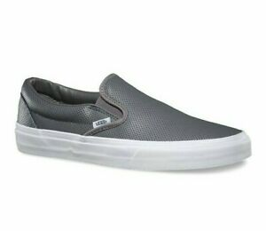 Vans-Classic-Slip-On-Perf-Leather-Smoked-Pearl-Gray-Womens-Shoes