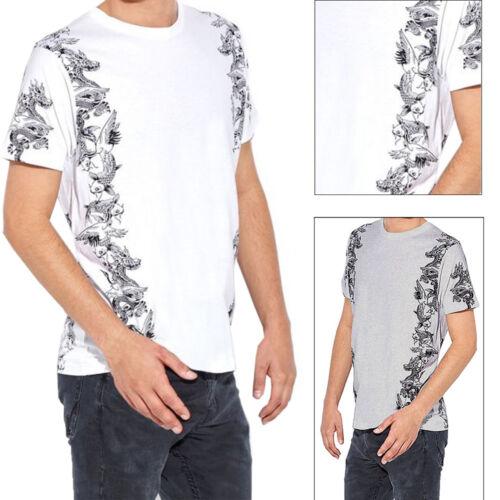 Brave Soul da Uomo Designer Japaness Carpa Koi Stampa Casual Estate T Shirt Tee Top
