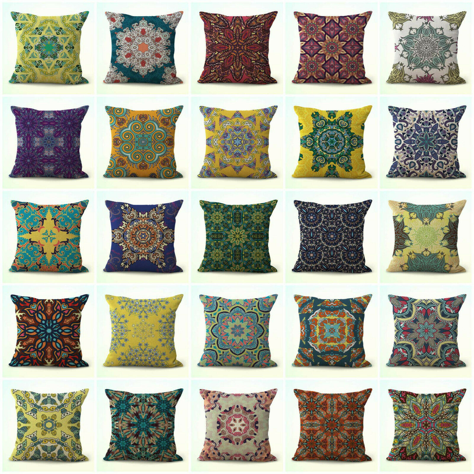 US Seller- set of 20 mandala eternity unity decorative throw pillow case