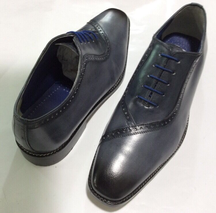 New Men's Liberty Smooth Leather Two Tone Oxford Grey Dress shoes LS 913