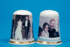 Prince-Harry-amp-Meghan-039-s-After-Wedding-Party-Reception-Set-of-2-Thimbles-B-114