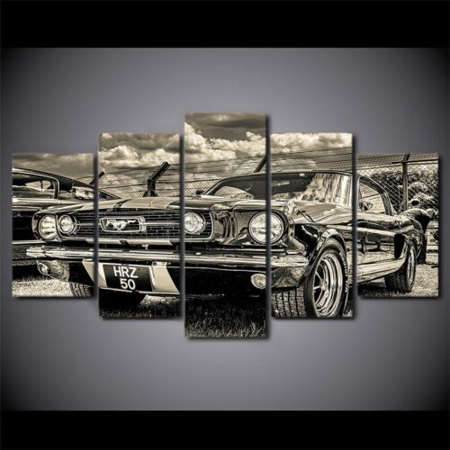 Ford Mustang 1965 5 Pieces canvas Wall Art Picture Home Decor