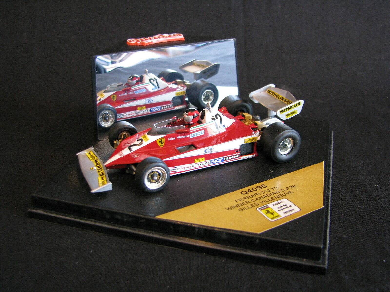 Quartzo Ferrari 312 312 312 T3 1978 1 43  12 Gilles Villeneuve (CAN) Canadian GP (LS) 7d0ff7