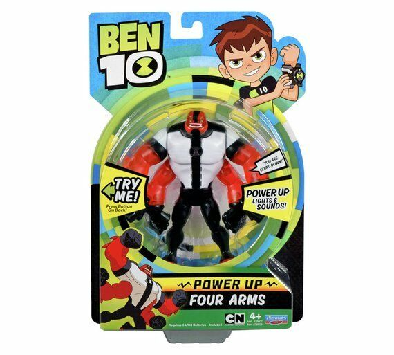 BEN 10 Power Up Four Arms ljuss och Sounds Alien Power Up Blast