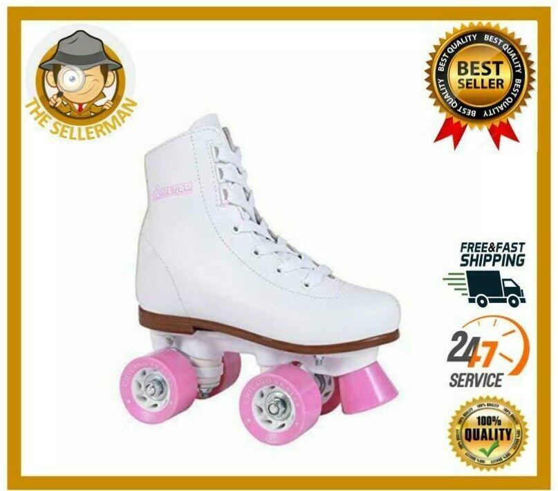 Chicago Skates Girl/'s Classic Roller Skates White Rink Quad Skates CRS190003 Size Youth 3