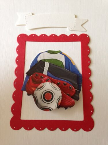 FOOTBALL FAN 3D CARD TOPPER BIRTHDAY//FATHERS DAY B