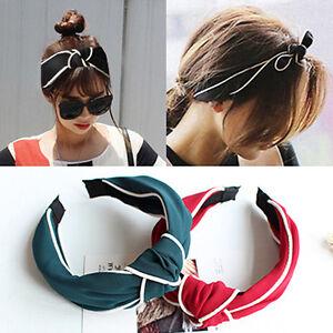 Fashion Women Girls Lady Bow Ribbon Headband Hair Band Head Piece Jewelry
