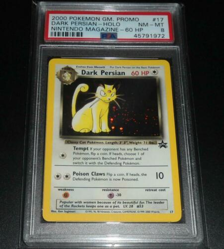 PSA 8 NM-MINT Dark Persian # 17 WOTC Black Star Promo HOLO Pokemon Card