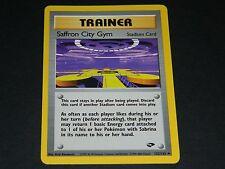 Pokemon Gym Challenge Set UN-COMMON Saffron City Gym 122/132 - NM/M Condition