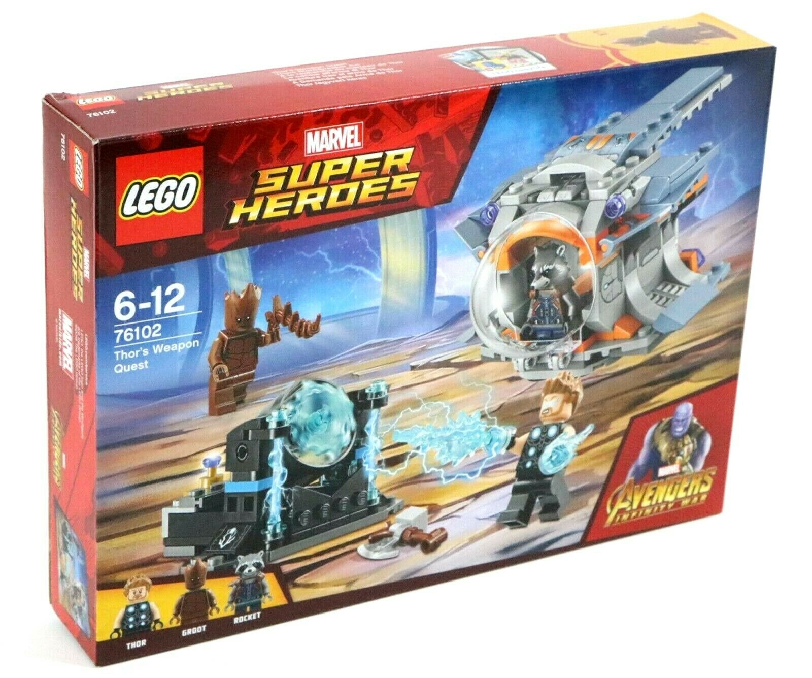 LEGO MARVEL AVENGERS 76102 THORS WEAPON QUEST SET - BNIB