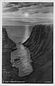 Norvege-Norge-Nordcap-Hornviken-K-K-Bergen-1934-Photo-Carte-Postale