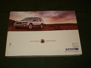 forester owners manual