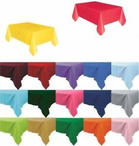 Plastic-Tablecovers-Table-Housse-en-tissu-Parti-Catering-evenements-vaisselle-11-couleurs