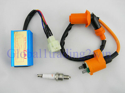 Scooter Ignition Coil + Racing CDI GY6 50 125cc 150cc Scooter Moped Go Kart
