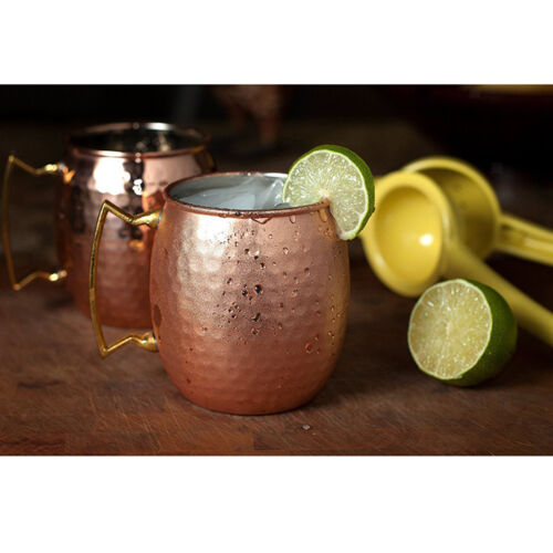 Moscow Mule Mug x2 Cocktail Barrel Tankard Cup Kitchen Barware Cup #1